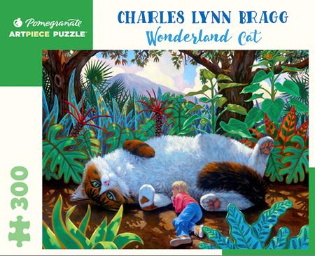 Pomegranate 300 Piece Jigsaw Puzzle Charles Lynn Bragg: Wonderland Cat