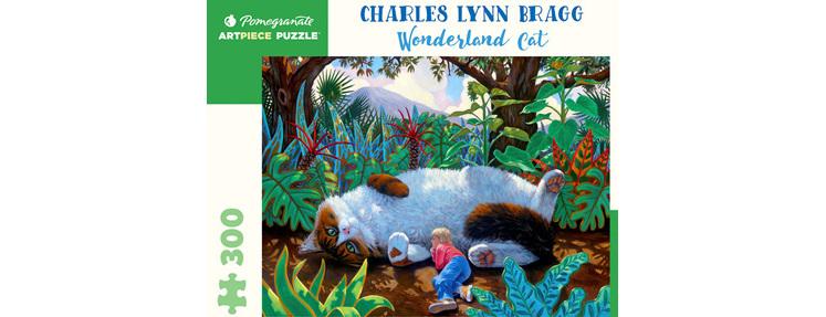 Pomegranate 300 Piece Jigsaw Puzzle Charles Lynn Bragg: Wonderland Cat  $19.95