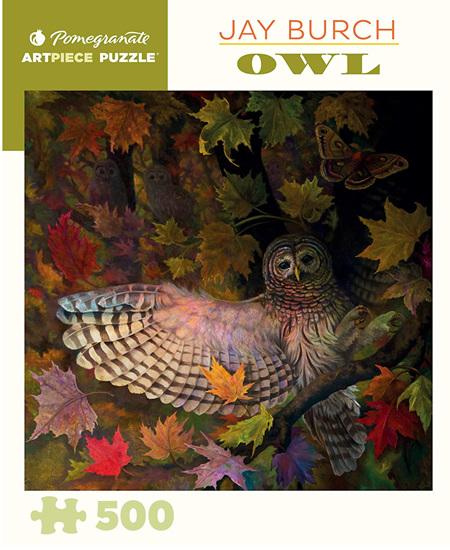 Pomegranate 500 Piece Jigsaw Puzzle: Jay Burch - Owl