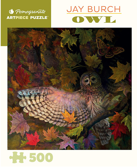 Pomegranate 500 Piece Jigsaw Puzzle: Jay Burch - Owl