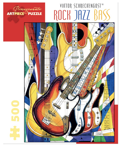 Pomegranate 500 Piece Jigsaw Puzzle  SCHRECKENGOST: ROCK JAZZ BASS