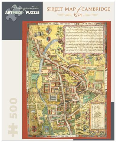 Pomegranate 500 Piece Jigsaw Puzzle  STREET MAP OF CAMBRIDGE  1574