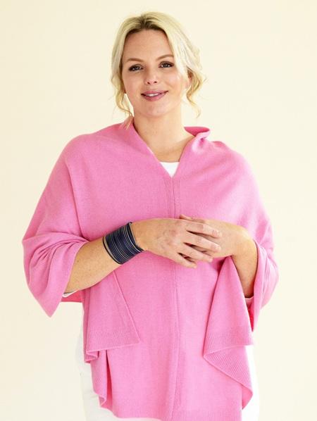 Poncho Scarf - Pale Pink