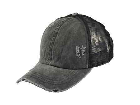 Ponytail Cap Black