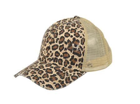 Ponytail Cap Leopard