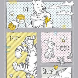 Pooh Nursery - Eat Play Giggle Sleep Panel