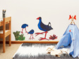 Pooky Pukeko wall decal large