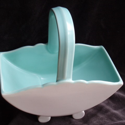 Poole basket turquoise and pink