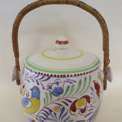 Handpainted biscuit barrel
