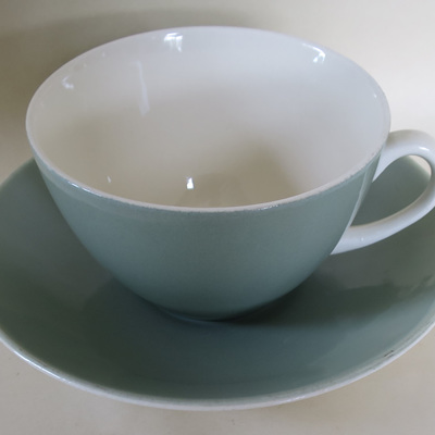 Pair tea cups and saucers