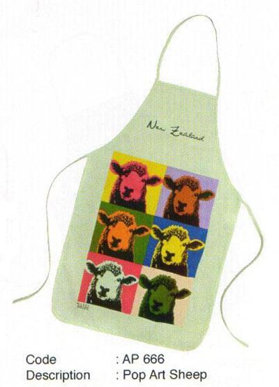 Pop Art Sheep Apron