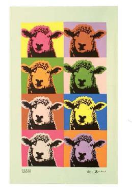 Pop Art Sheep Tea Towel