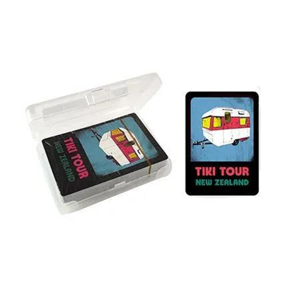 "Pop Art ""Tiki Tour"" Retro Caravan Playing Cards"