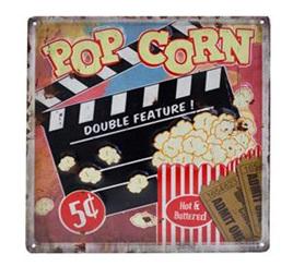 Popcorn Embossed Tin Plaque