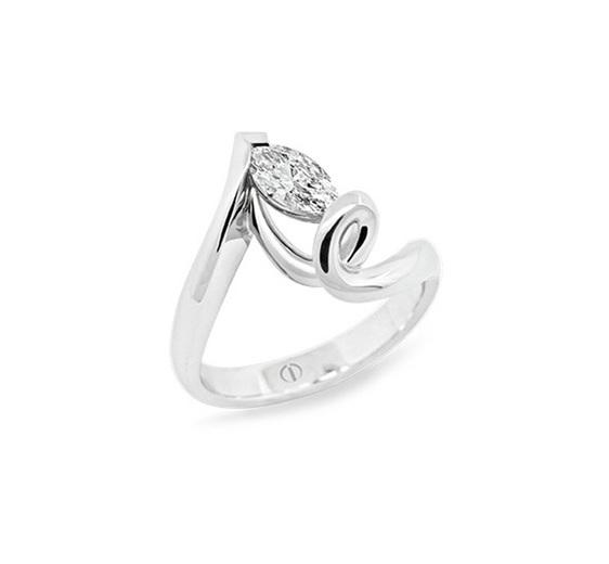 Popped - contemporary diamond ring