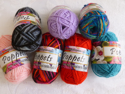 Poppets 4 ply 75% wool 25% nylon