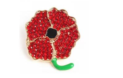 Poppy brooch - style 1
