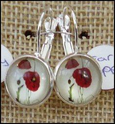 Poppy Glass Dome Earrings