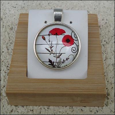Poppy Glass Dome Jewellery