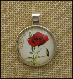 Poppy Glass Dome Necklaces