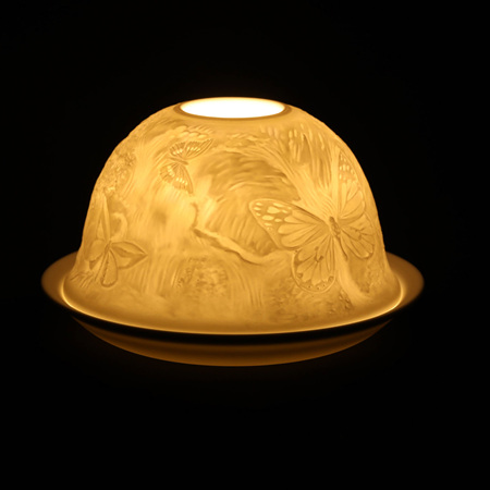 Porcelain Dome Light Butterfly Forest