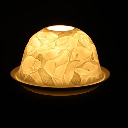Porcelain Dome Light Calla Lily