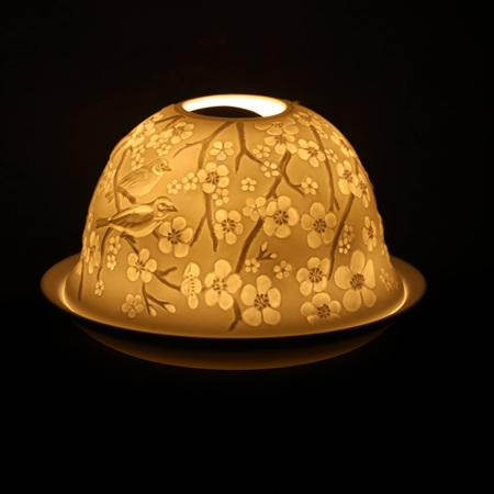 Porcelain Dome Light Cherry Blossom