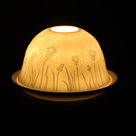 Porcelain Dome Light Dandelion's Gift