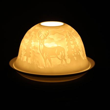 Porcelain Dome Light Deer Trail