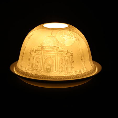 Porcelain Dome Light Taj Mahal, India