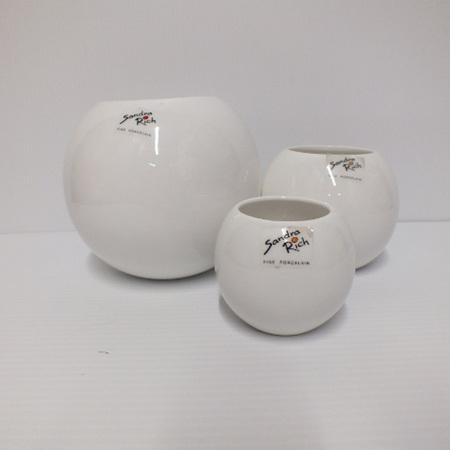 Porcelain Globe White Medium C1731