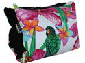 Portable BabyBaby nursing sleeve with a colourful tropical flower print