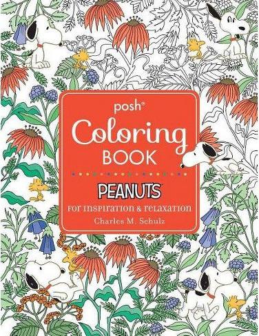 Posh Adult Coloring Book - Peanuts