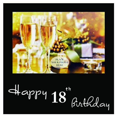 Posh Frame 18th Birthday 18x18cm