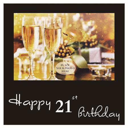 Posh Frame 21st Birthday 18x18cm