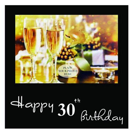 Posh Frame 30th Birthday 18x18cm