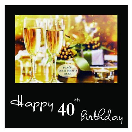 Posh Frame 40th Birthday 18x18cm