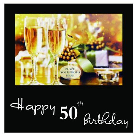 Posh Frame 50th Birthday 18x18cm