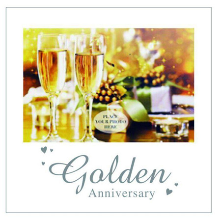 Posh Frame Golden 50th Anniversary 18x18cm