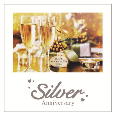 Posh Frame Silver 25th Anniversary 18x18cm
