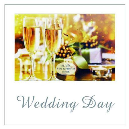 Posh Frame Wedding Day 18x18cm