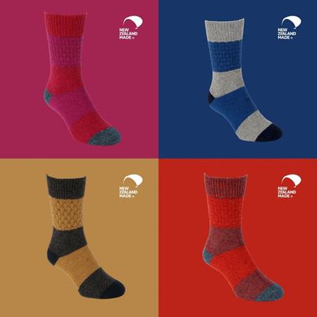 Possum + Merino Stripe Socks