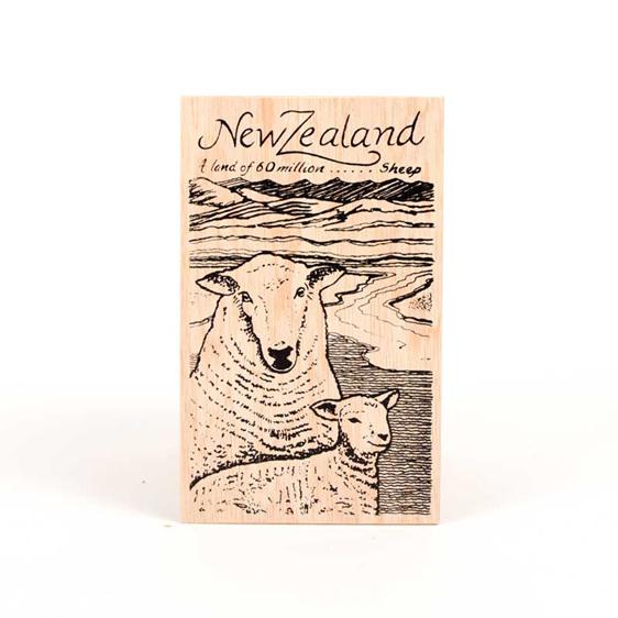post card sheep