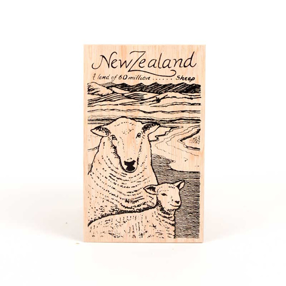 post card sheep
