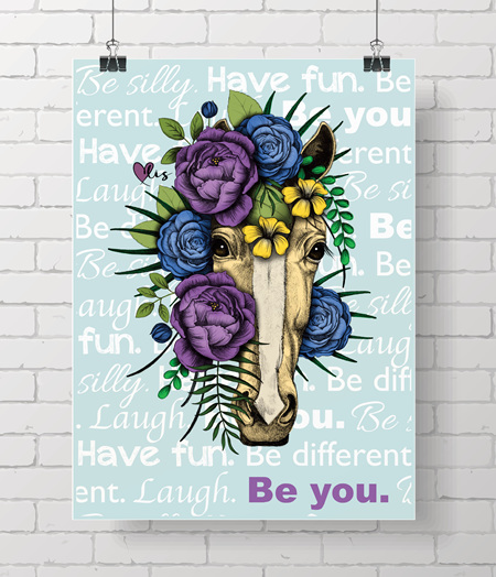 Poster - Horse, Be you!