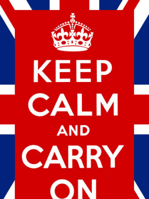 Poster or Gift Wrap - Keep Calm & Carry On