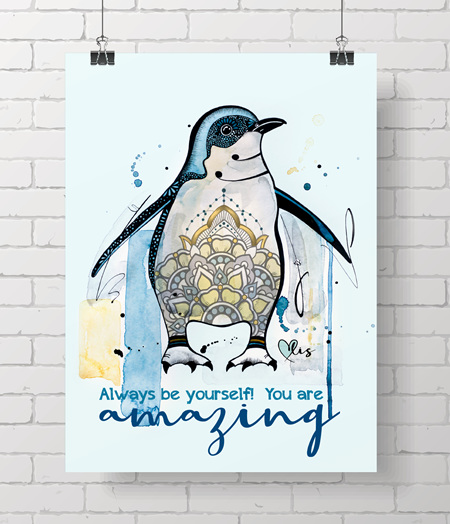 Poster - Penguin, You are amazing!