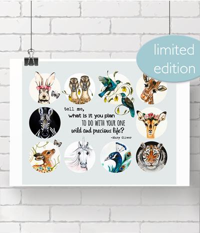 poster: wild precious life - 5 LEFT