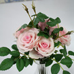 Rose posy in pink red or white 1158-60
