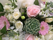 Posy Bowl with Succulent